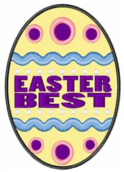 Easter Best embroidery design