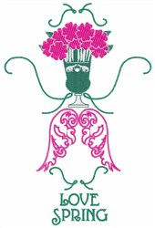 Love Spring embroidery design