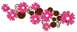 Pink Daisies embroidery design