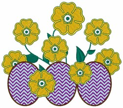 Easter Egg Flowers embroidery design
