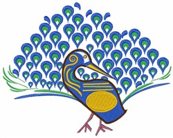 Peacock embroidery design