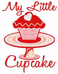 My Little Cupcake embroidery design