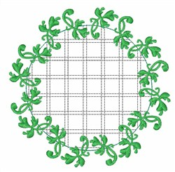 Clover Wreath embroidery design
