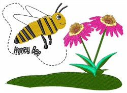 Busy Honey Bee embroidery design