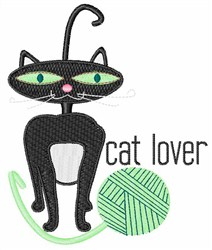Cat Lover Yarn embroidery design