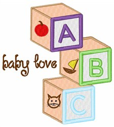 Baby Love Blocks embroidery design
