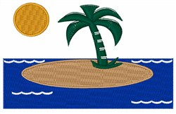 Tropical Island embroidery design
