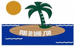 Tropical Island Fun embroidery design