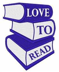 Love to Read Books embroidery design