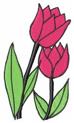 Pink Tulip embroidery design
