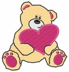 Valentine Teddy embroidery design