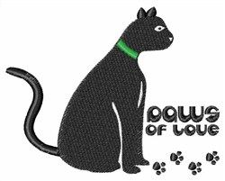 Paws of Love embroidery design