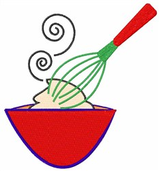 Whisk and Bowl embroidery design