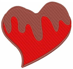Chocolate Covered Heart embroidery design