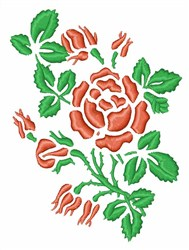 Rose Buds embroidery design