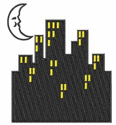 City Lights embroidery design