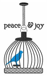Peace &  Joy embroidery design