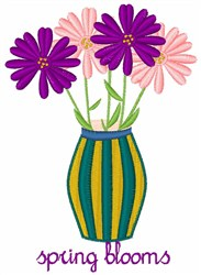 Spring Blooms embroidery design