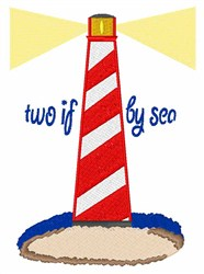 Two If By Sea embroidery design