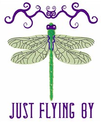 Just Flying By embroidery design