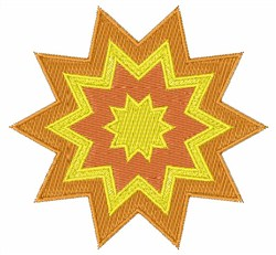 Sun Burst embroidery design