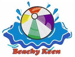 Beachy Keen embroidery design