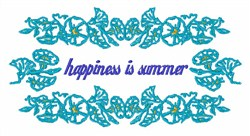 Happiness Is Summer embroidery design