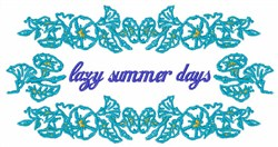 Lazy Summer Days embroidery design
