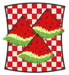 Watermelon Picnic embroidery design