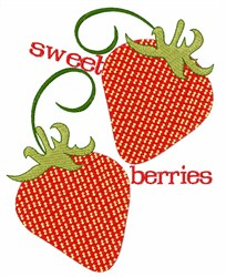 Sweet Berries embroidery design