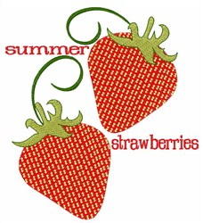 Summer Strawberries embroidery design