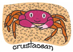 Crustacean embroidery design