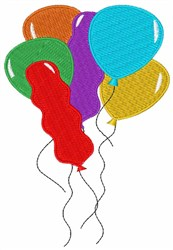 Balloons embroidery design