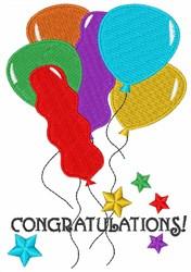 Congratulations embroidery design