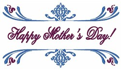 Happy Mothers Day! embroidery design