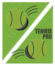 Tennis Pro embroidery design