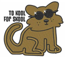 To Kool For Skool embroidery design