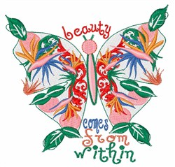 Beauty Comes From Within embroidery design