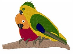 Two Parakeets embroidery design