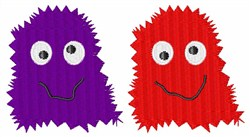 Purple & Red Monsters embroidery design