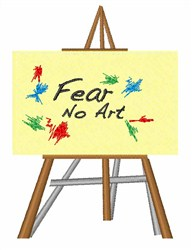 Fear No Art embroidery design