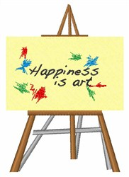 Happiness Is Art embroidery design