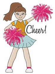 Cheerleader Cheer embroidery design