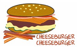 Cheeseburger Cheeseburger embroidery design