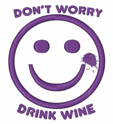 Drink Wine Smiley embroidery design