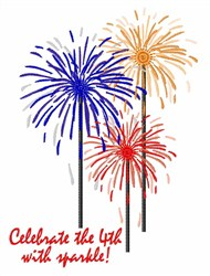 Celebrate With Sparkle embroidery design