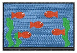 Fish Tank embroidery design