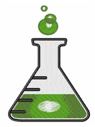 Science Flask embroidery design