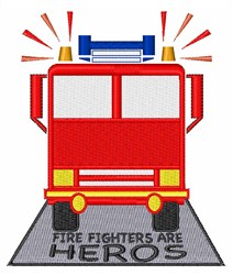 Firefighters Are Heros embroidery design