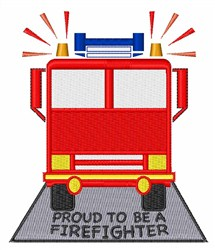 Proud Firefighter embroidery design